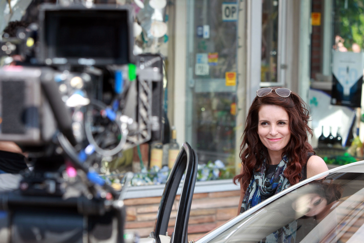 """Tina Fey films """"The Nest"""" on June 16, 2014, in Pearl River, N.Y."""