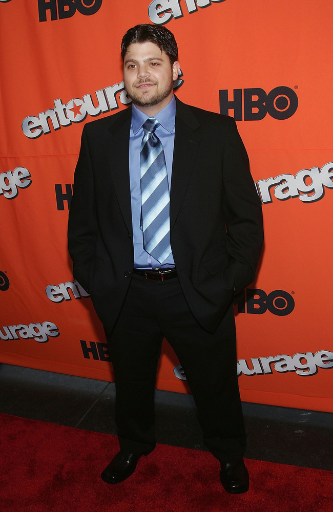 "Actor Jerry Ferrara attends a premiere screening of the second season of HBO's ""Entourage"" at Lincoln Center Damrosch Park Ju"