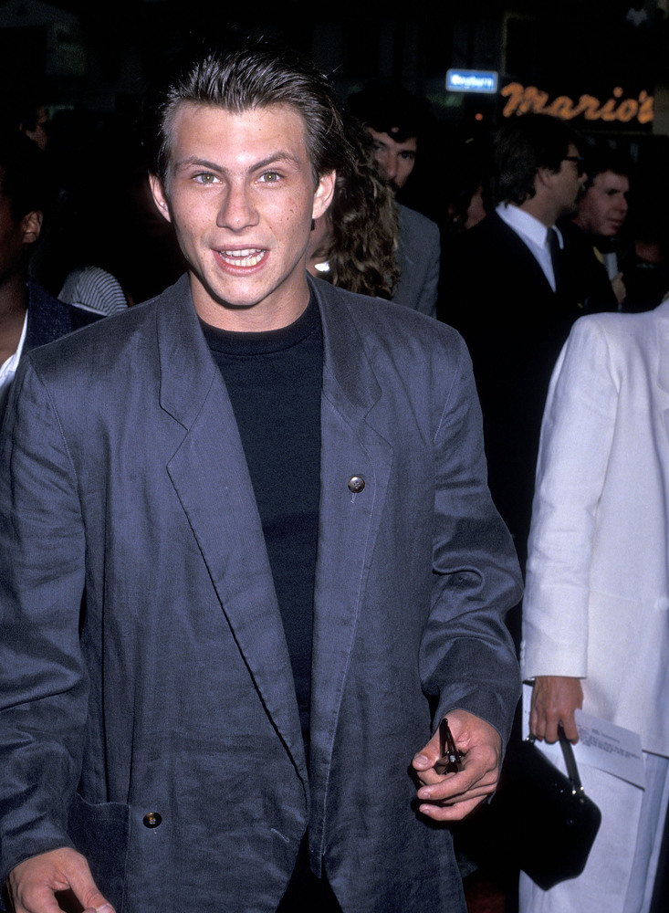 "Actor Christian Slater attends the ""Batman"" Westwood Premiere on June 19, 1989 at Westwood Village Theatre in Westwood, Calif"