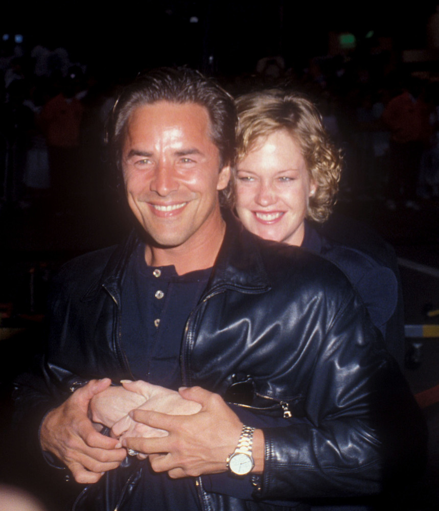 Don Johnson and Melanie Griffith.
