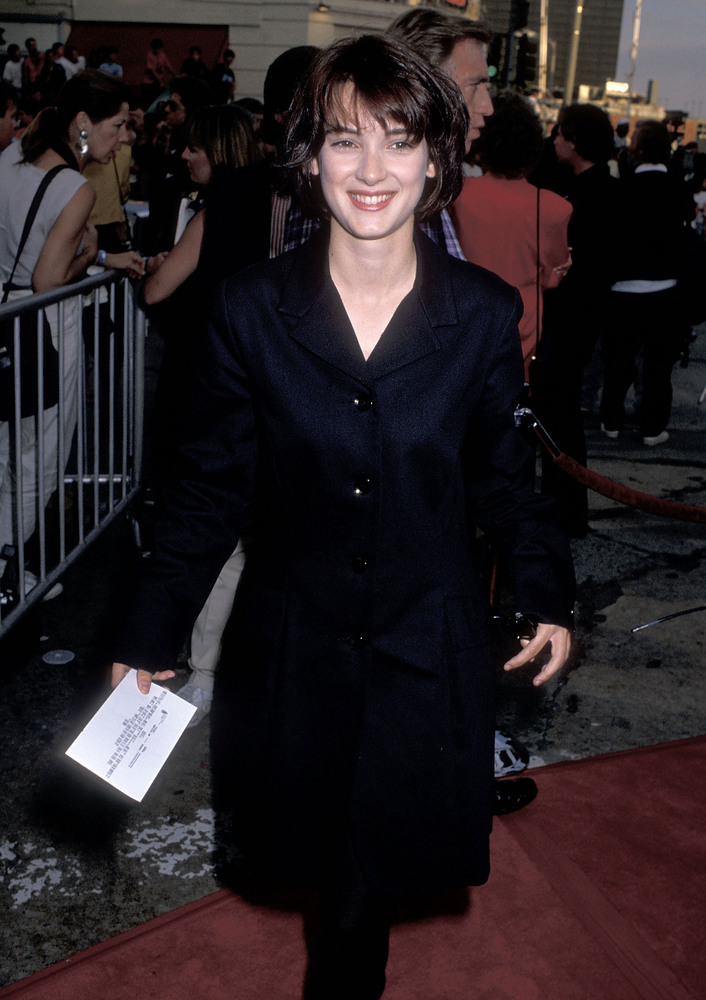 "Actress Winona Ryder attends the ""Batman"" Westwood Premiere on June 19, 1989 at Mann Bruin Theatre in Westwood, California."