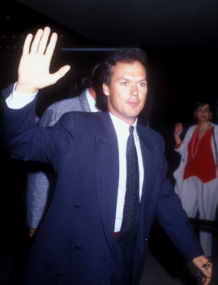 "Michael Keaton during ""Batman"" Los Angeles Premiere at Mann Village theater in Westwood, California, United States."