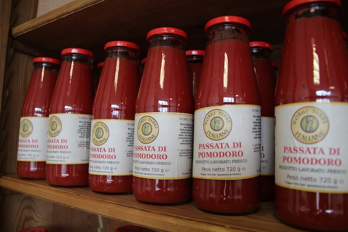 "Passata is a tomato puree. ""Passata"" literally translates to ""passed,"" which in cooking language translates to ""passed throug"