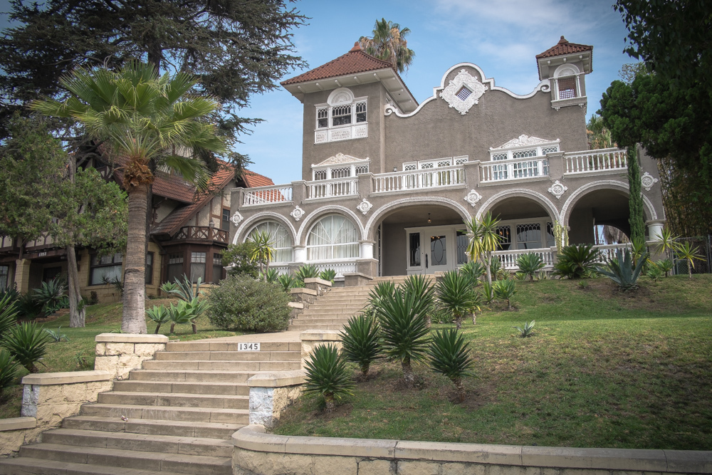 The historic home is located on Alvarado Terrace, which was first deeded by pioneering Los Angeles vineyard owner and <a href