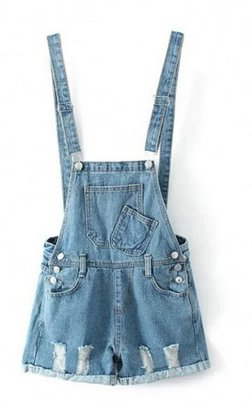 "<a href=""http://www.chicnova.com/street-style-frayed-denim-overalls.html?utm_source=polyvore&utm_medium=cpc&utm_campaign=jump"