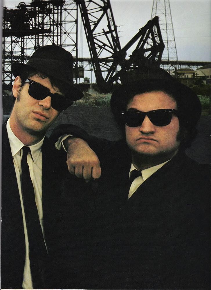 Dan Aackroyd and John Belushi on January 1, 1980.