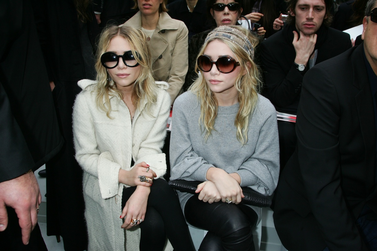 At the Chanel Fashion Show in Paris, France on February 29, 2008.