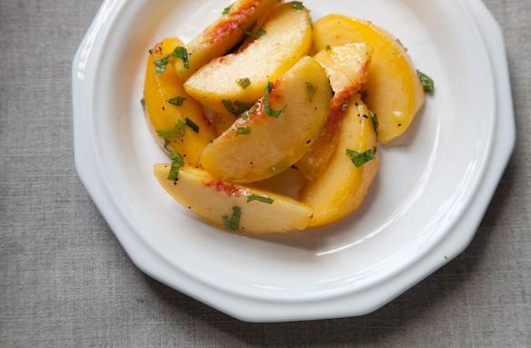 "<strong>Get <a href=""http://food52.com/recipes/13549-crook-s-corner-s-green-peach-salad"" target=""_blank"">Crook's Corner's Gre"