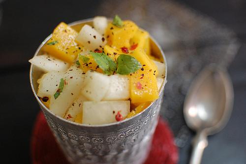 "<strong>Get the <a href=""http://food52.com/recipes/17356-mango-melon-salad"" target=""_blank"">Mango, Melon Salad</a> recipe fro"