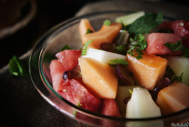 """<strong>Get the <a href=""""http://passthesushi.com/fresh-fruit-salad-with-honey-lime-syrup/"""" target=""""_blank"""">Fresh Fruit Salad"""