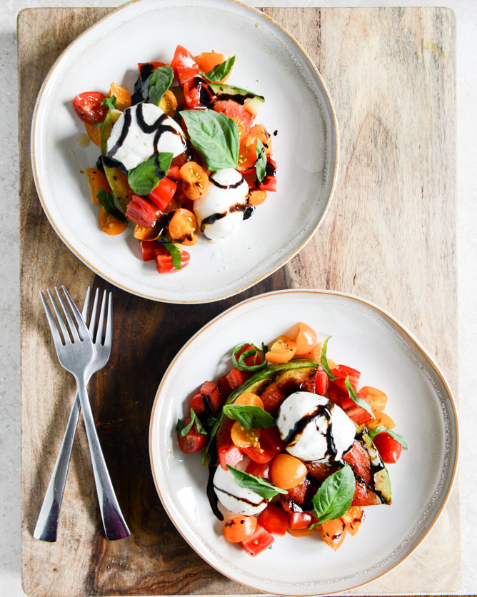 """<strong>Get the Honey <a href=""""http://www.howsweeteats.com/2013/07/honey-grilled-watermelon-caprese-salads/"""" target=""""_blank"""">"""