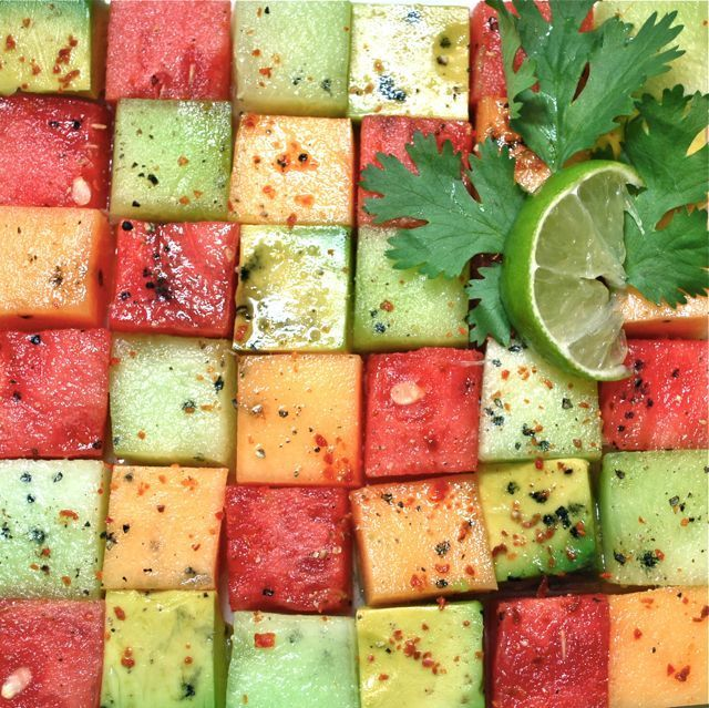 "<strong>Get the <a href=""http://food52.com/recipes/17924-avocado-mellon-salad"" target=""_blank"">Avocado and Melon Salad</a> by"