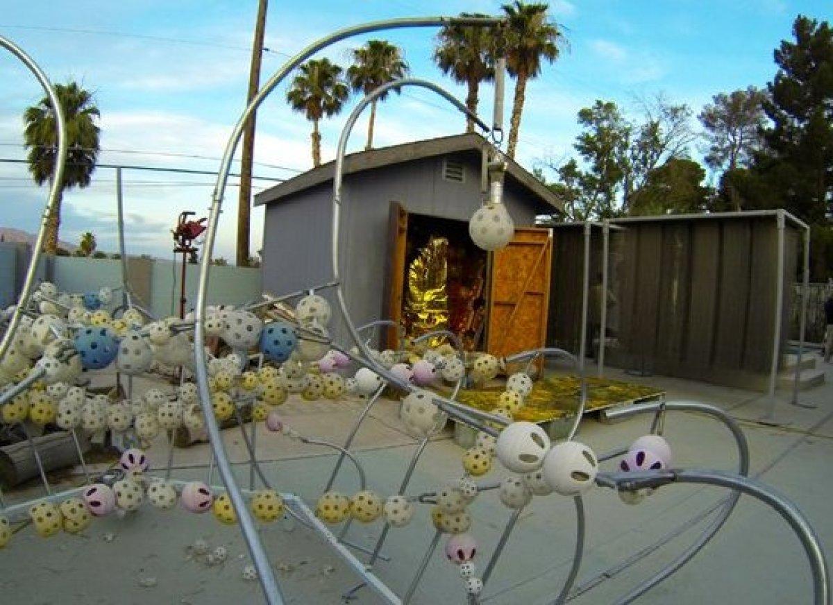 Anthony Bondi and Jevijoe Vitug's installation. Event 1, Anthony Bondi's studio/residence.