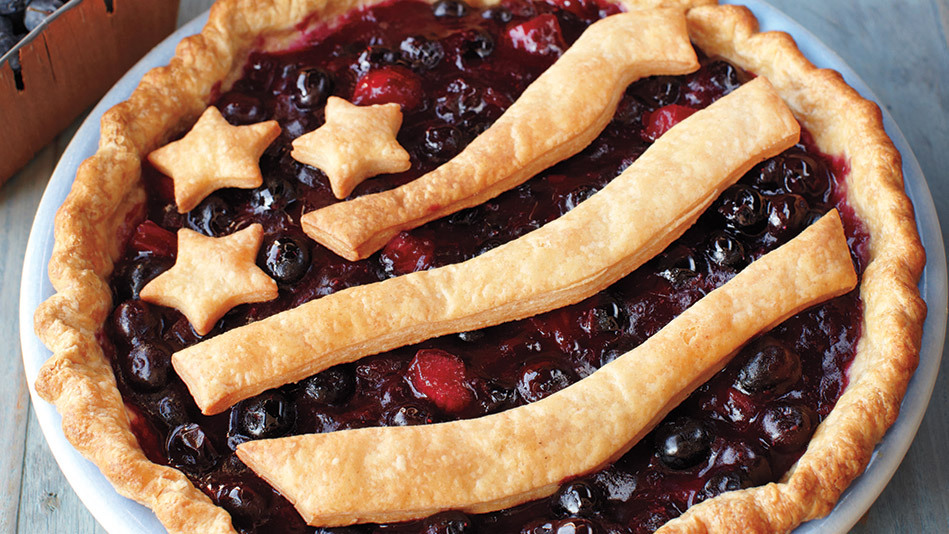 """You've probably had strawberry-rhubarb desserts, but blueberry-rhubarb? We're guessing not. The same went for <a href=""""http:/"""