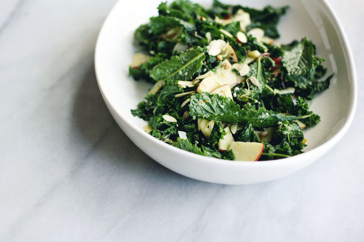 """<strong>Get the <a href=""""http://sevenspoons.net/blog/2013/5/20/itll-turn-heads"""" target=""""_blank"""">Seedy, Nutty Kale And Apple S"""