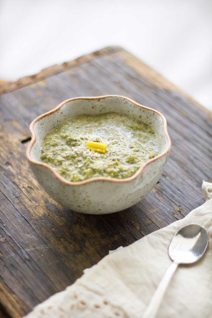 """<strong>Get the <a href=""""http://www.adventures-in-cooking.com/2011/10/broccoli-chard-bean-soup.html"""" target=""""_blank"""">Broccoli"""