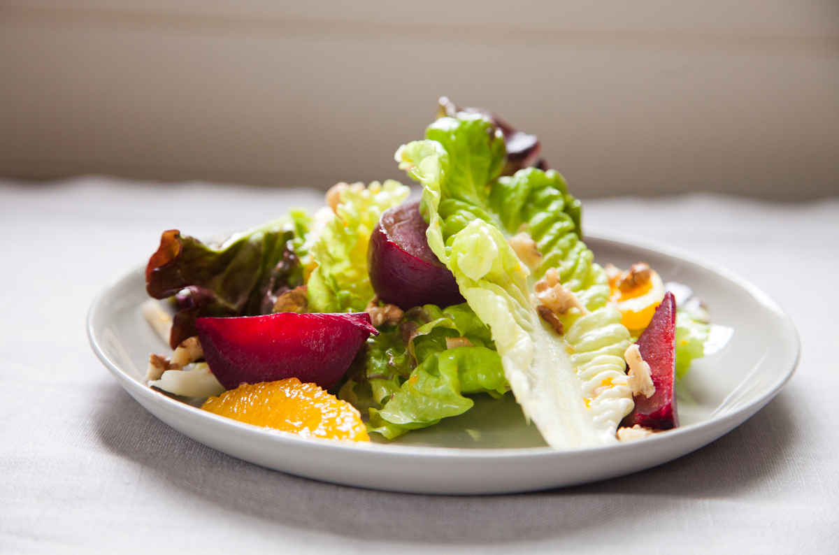 """<strong>Get the <a href=""""http://food52.com/recipes/179-red-leaf-salad-with-roasted-beets-oranges-and-walnuts"""" target=""""_blank"""""""