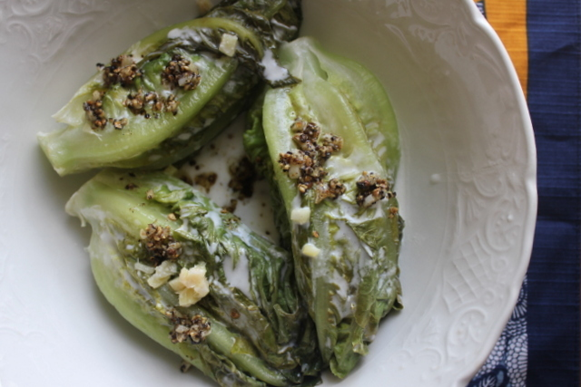 """<strong>Get the <a href=""""http://food52.com/recipes/18991-coconut-milk-braised-lettuce-with-ginger-garlic-and-pepper"""" target="""""""