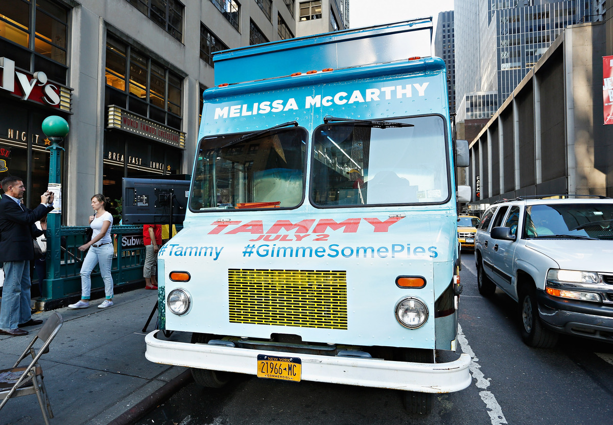 NEW YORK, NY - JUNE 27:  A view of atmosphere at the 'Tammy' Apple Pie Truck in Times Square on June 27, 2014 in New York Cit