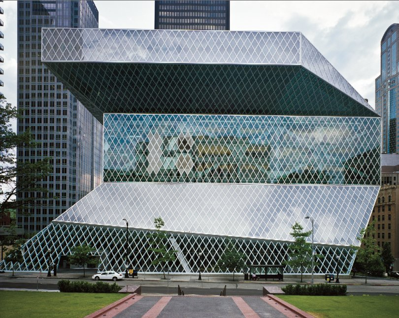 Dutch architect Rem Koolhaas and Joshua Ramus were principal designers for this library that opened in 2004.
