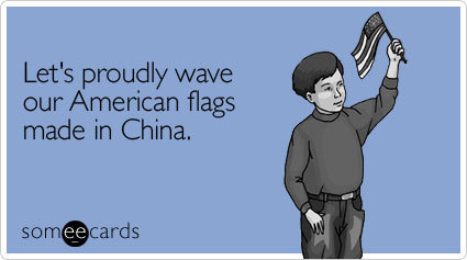 """To send this card, go <a href=""""http://www.someecards.com/independence-day-cards/lets-proudly-wave-our-american-flags"""" target="""