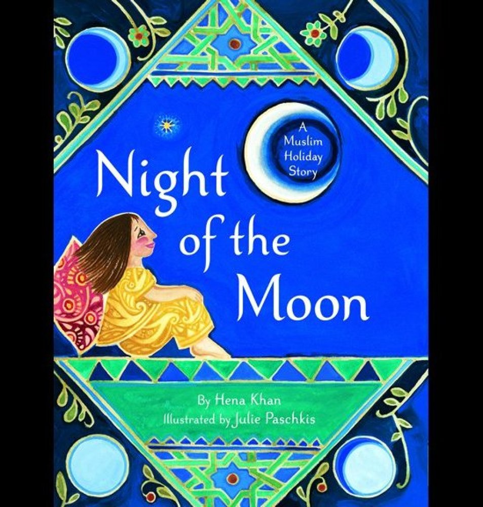 """<a href=""""http://www.amazon.com/Night-Moon-Muslim-Holiday-Story/dp/0811860620"""" target=""""_hplink"""">Night of the Moon</a> is a del"""