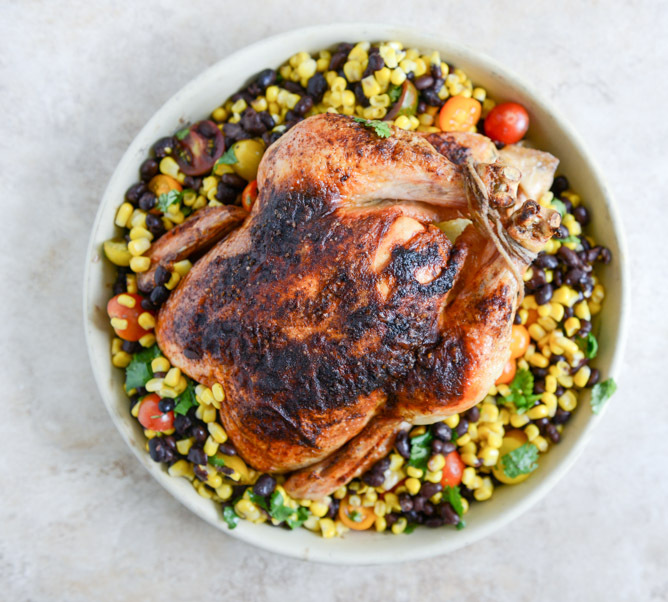 """<strong>Get the <a href=""""http://www.howsweeteats.com/2013/09/chipotle-lime-butter-whole-roasted-chicken-with-the-easiest-blac"""