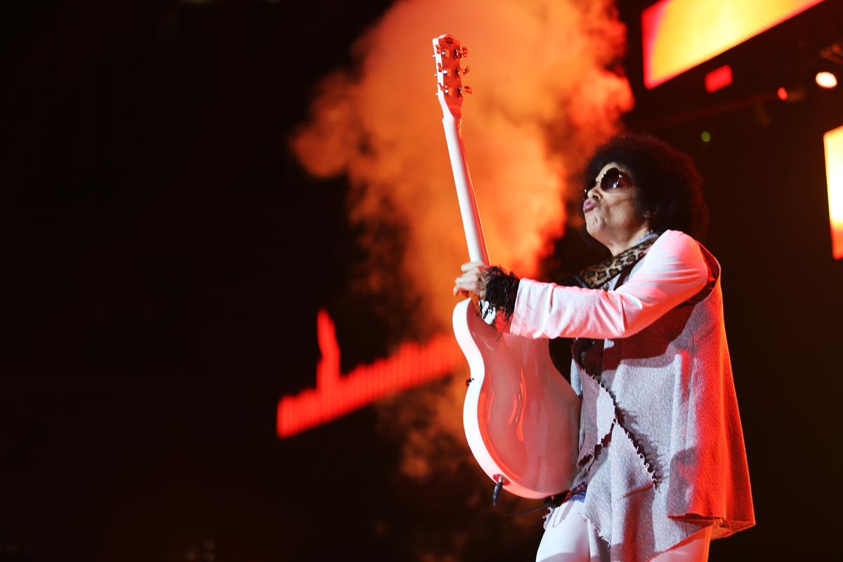 NEW ORLEANS - JULY 2: Prince performs at the 20th Anniversary Essence Music Festival at the Superdome on July 2, 2004 in New