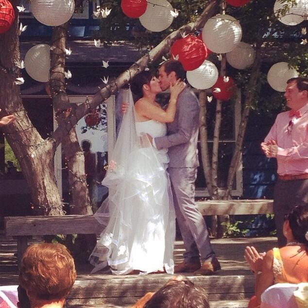 """""""Melissa and Shaun married at the AIA Clubhouse, Toronto Island."""" -  Melissa Molema"""
