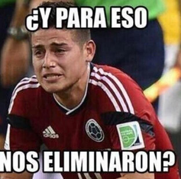 """Colombia's James Rodriguez: """"This is what you eliminated us for?"""""""