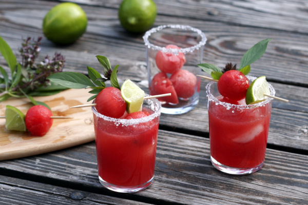 "<strong>Get the <a href=""http://food52.com/recipes/18696-thai-basil-watermelon-margaritas"" target=""_blank"">Thai Basil Waterme"