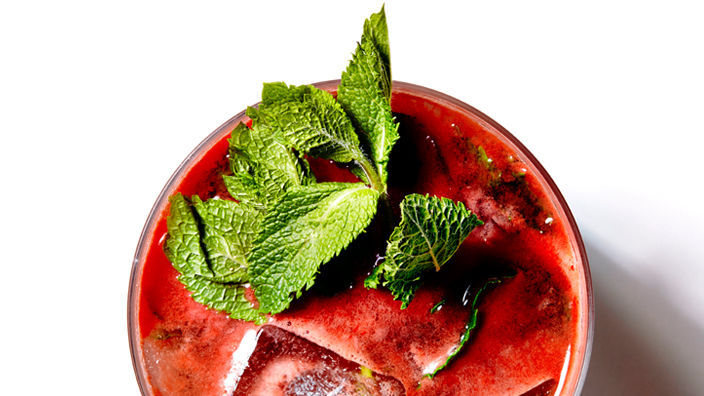 "<strong>Get the <a href=""http://food52.com/recipes/29549-watermelon-mojito"" target=""_blank"">Watermelon Mojito recipe</a> from"