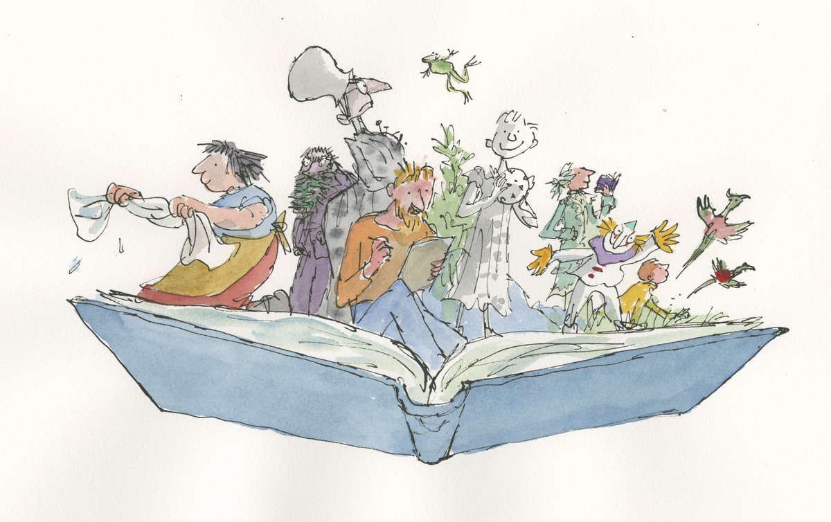 Characters from Inside Stories, ©Quentin Blake, 2014