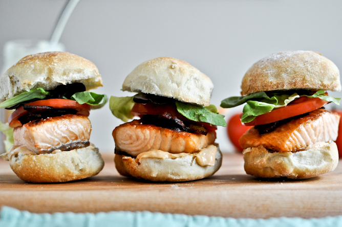 """<strong>Get the <a href=""""http://www.howsweeteats.com/2012/05/crispy-salmon-blt-sliders-with-chipotle-mayo/"""" target=""""_blank"""">S"""