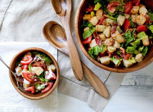 """<strong>Get the <a href=""""http://www.annies-eats.com/2012/08/01/blt-panzanella/"""" target=""""_blank"""">BLT Panzanella</a> recipe by"""