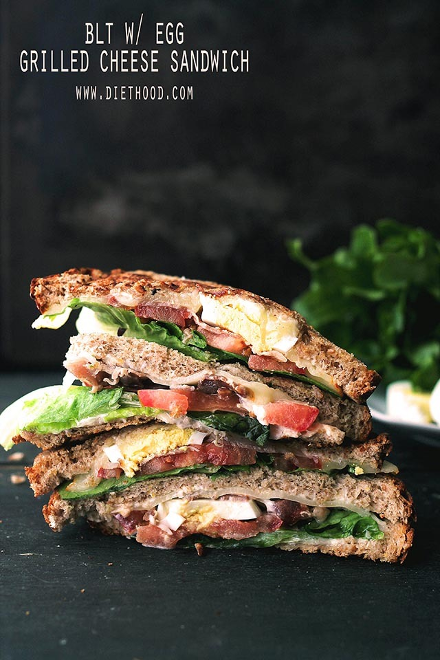 """<strong>Get the <a href=""""http://diethood.com/blt-egg-grilled-cheese-sandwich/"""" target=""""_blank"""">BLT-With-Egg Grilled Cheese Sa"""