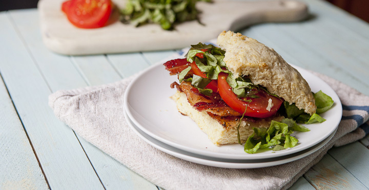 """<strong>Get the <a href=""""http://www.macheesmo.com/2014/05/buttermilk-biscuit-blts/"""" target=""""_blank"""">Buttermilk Biscuits BLTs<"""