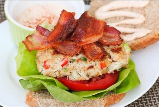 "<strong>Get the <a href=""http://kokocooks.blogspot.com/2011/04/crab-cake-blts.html"" target=""_hplink"">Crab Cake BLT</a> recipe"