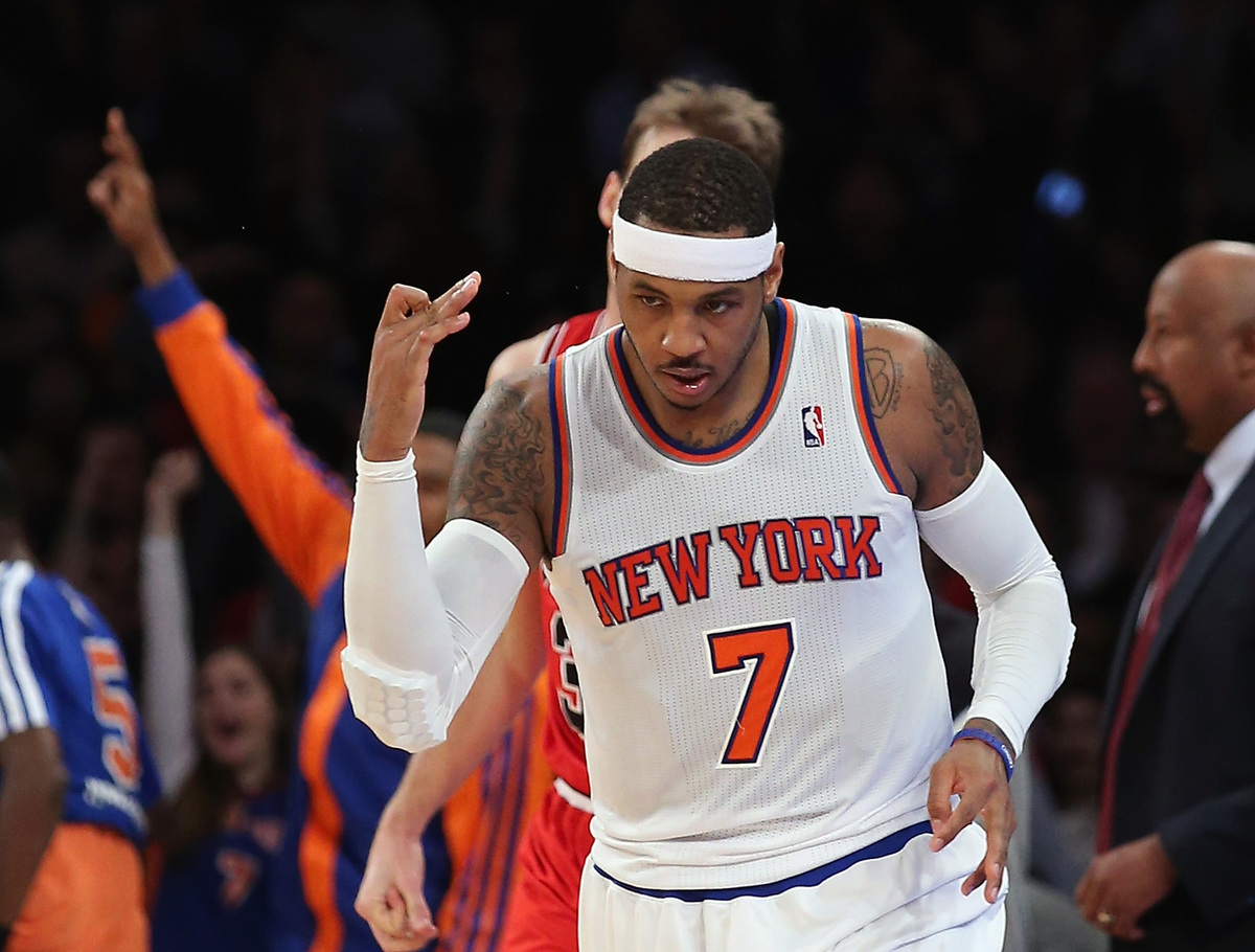 "Carmelo signed a five-year deal worth more than $120, <a href=""http://sports.yahoo.com/news/sources--carmelo-anthony-returnin"