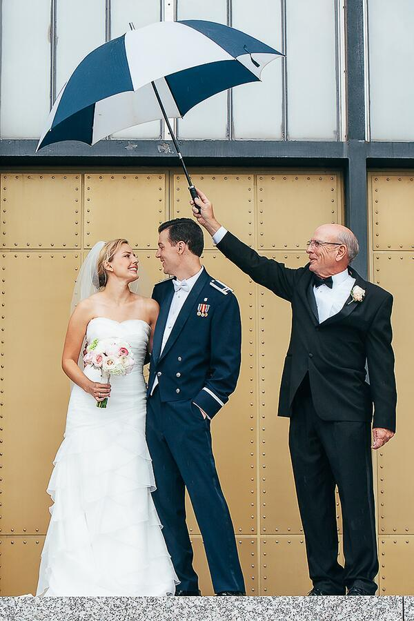 """""""Brooke and Boyd were married at the Air Force Academy Chapel."""" - Sean Cayton"""