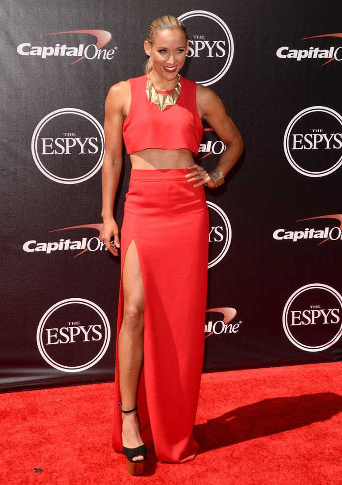 LOS ANGELES, CA - JULY 16:  Track and field runner Lolo Jones attends The 2014 ESPYS at Nokia Theatre L.A. Live on July 16, 2