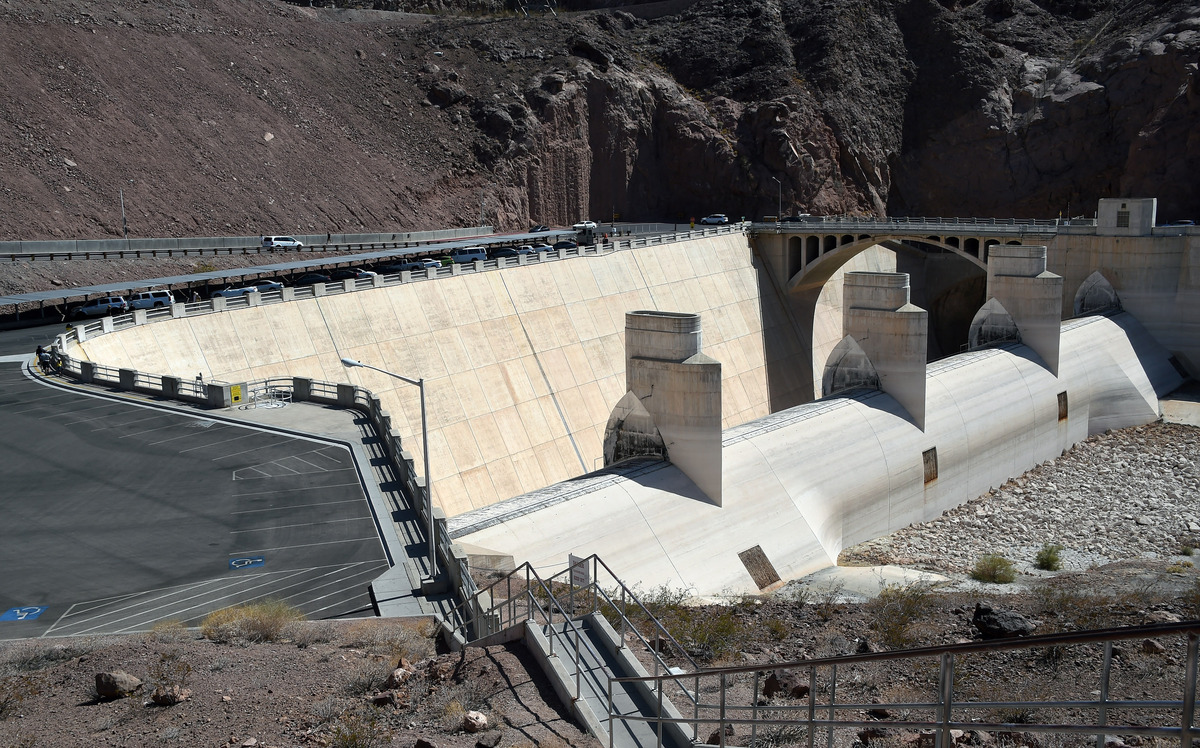 The Arizona Spillway at the Hoover Dam is shown on July 17, 2014 in the Lake Mead National Recreation Area, Arizona.