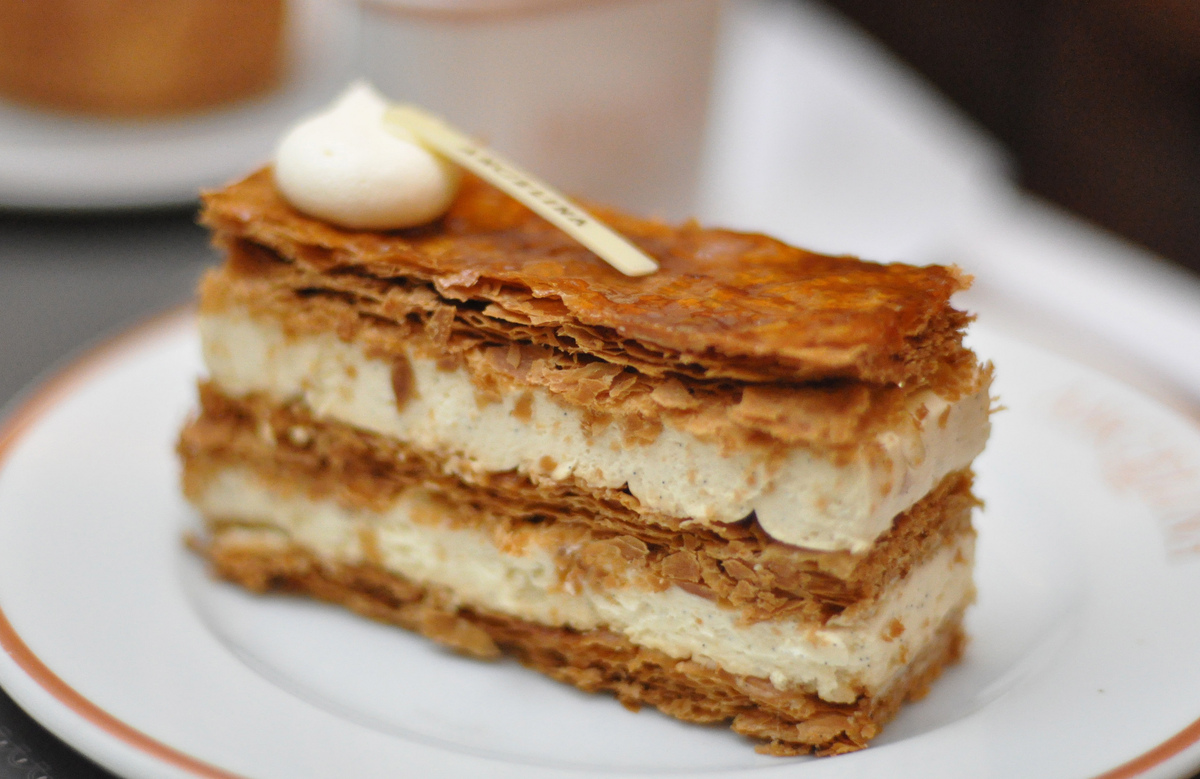 It's called a mille-feuille. We don't have to say they're the king of pastry, right? That's implied, right?