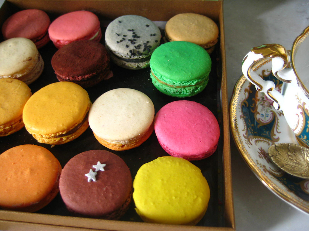 Aren't they lovely? Macarons are a meringue-and almond-based confection made in all kinds of flavors and beautiful colors. Th