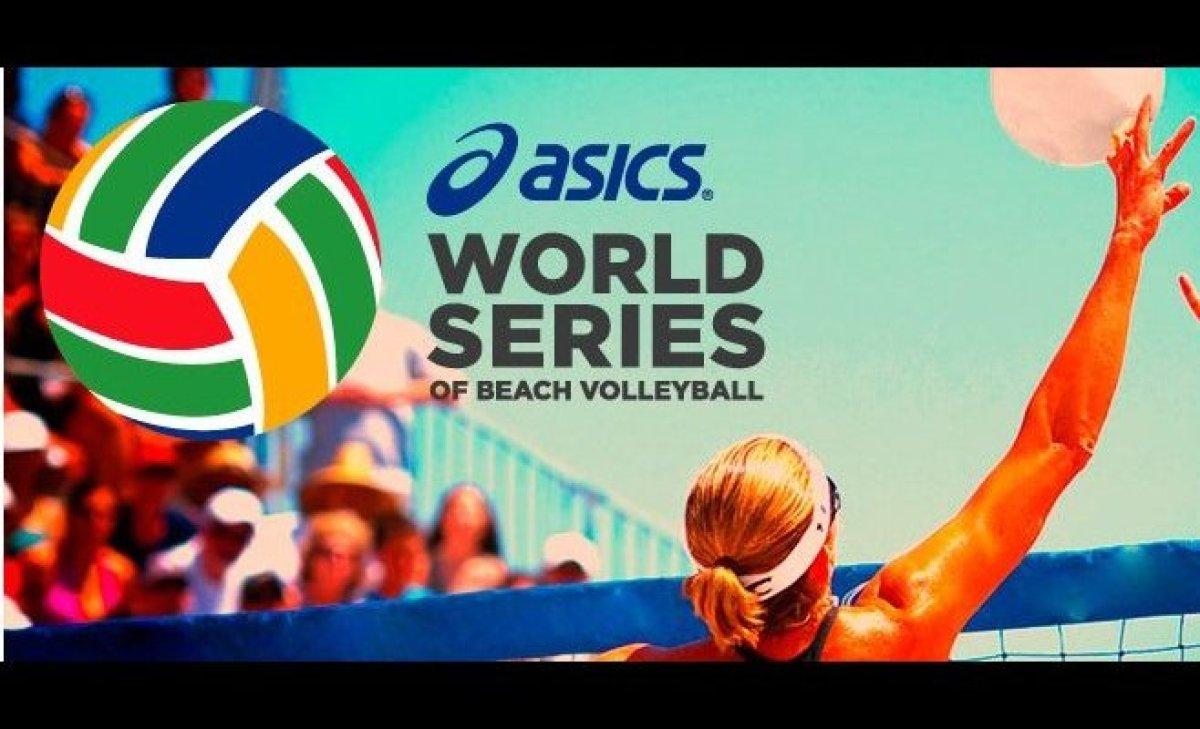 "Throughout the week, the <a href=""http://www.asicsamerica.com/events/asics-world-series-of-beach-volleyball"" target=""_hplink"""