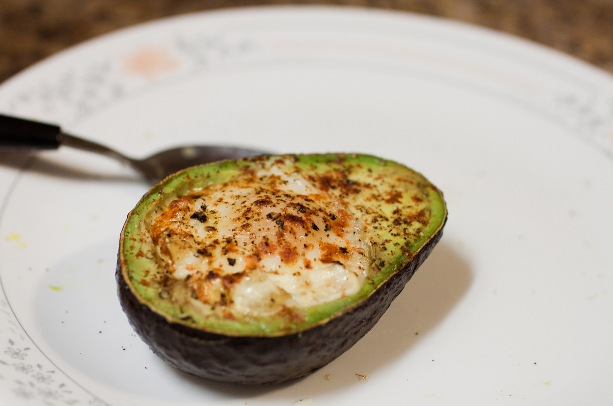 "<strong>Get the <a href=""http://www.huffingtonpost.com/tim-ferriss/eggocado_b_3328506.html"" target=""_blank"">Eggacado recipe</"