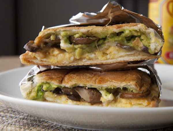 "<strong>Get the <a href=""http://www.macheesmo.com/2014/02/mushroom-torta//"" target=""_blank"">Mushroom Breakfast Torta With Avo"