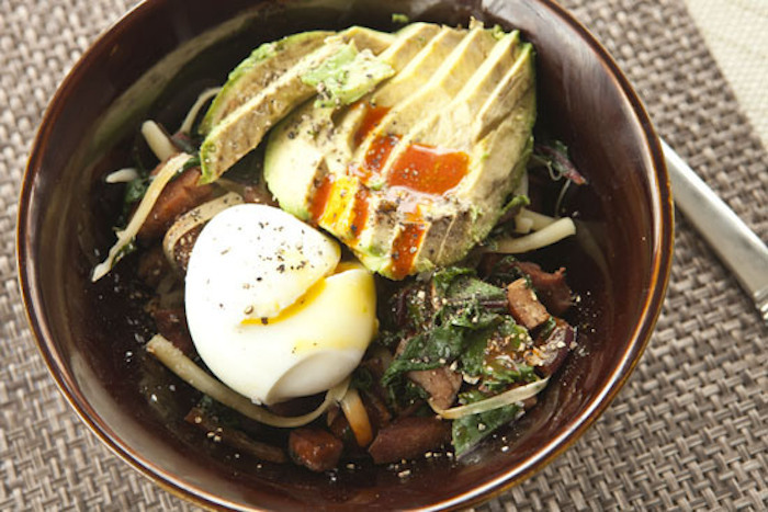 "<strong>Get the <a href=""http://www.macheesmo.com/2014/02/mushroom-torta/"" target=""_blank"">Green Eggs & Ham Breakfast Bowl re"