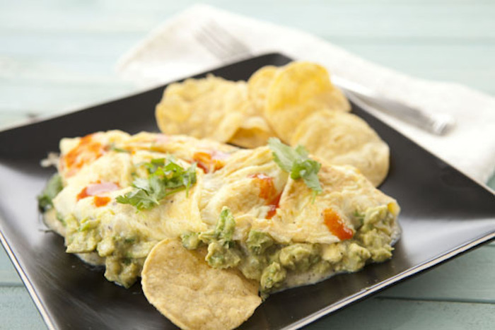 "<strong>Get the <a href=""http://www.macheesmo.com/2013/01/guacamole-omelet/"" target=""_blank"">Guacamole Omelet recipe</a> from"
