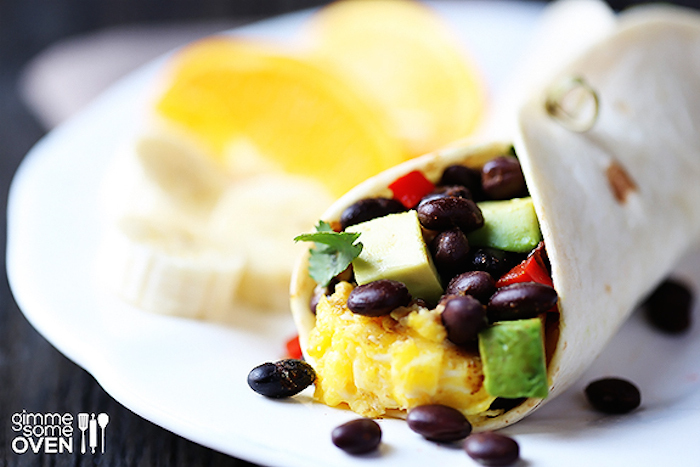 "<strong>Get the <a href=""http://www.gimmesomeoven.com/black-bean-and-avocado-breakfast-burritos/"" target=""_blank"">Black Bean"